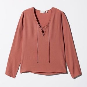 Wilfred Free Redling Lace Up Blouse